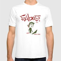 Sabos Mens Fitted Tee White SMALL