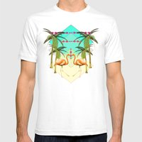 go flamingo, go ! Mens Fitted Tee White SMALL