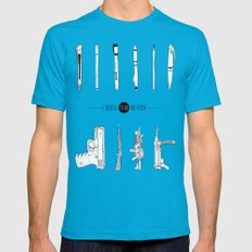 US AND THEM Mens Fitted Tee Teal SMALL