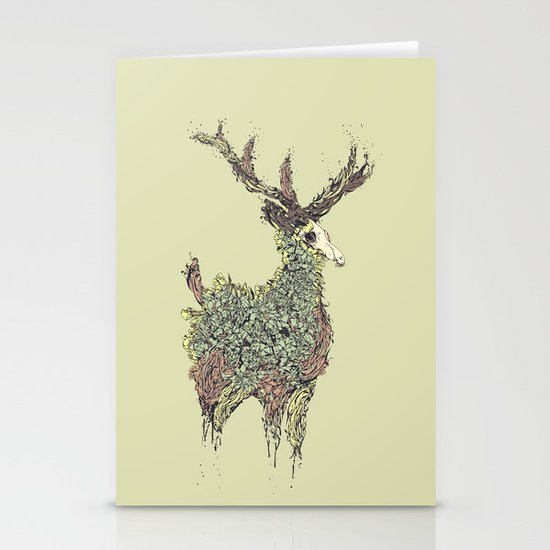 Beautiful Deer Old Stationery Card