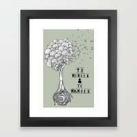 To Wonder and to Wander Framed Art Print