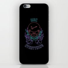 Risk Everything iPhone & iPod Skin