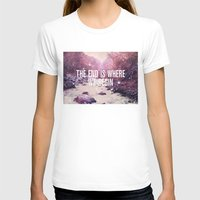 The End Is Where We Begin Womens Fitted Tee White SMALL