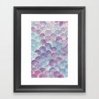 purple scales Framed Art Print