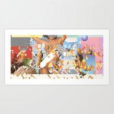 CAT / CRUSH / GIRL Art Print