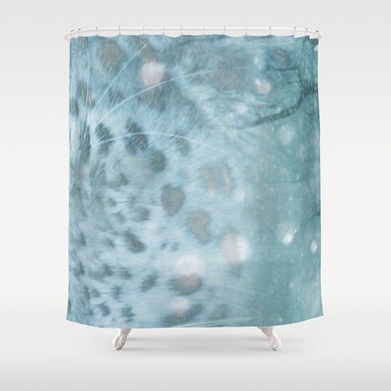 Snow Leopard day Shower Curtain