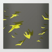 THE FLYING YELLOW Canvas Print