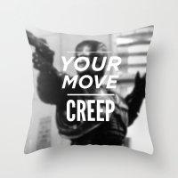Robocop Typography Throw Pillow