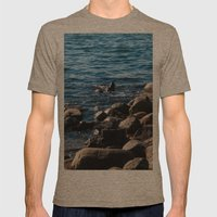 Rocks on the Water Mens Fitted Tee Tri-Coffee SMALL