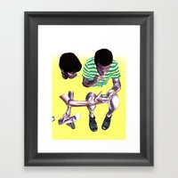 Fade. Framed Art Print