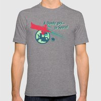 A Dandy Guy... In Space! Mens Fitted Tee Tri-Grey SMALL