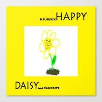 Happy Daisy Canvas Print