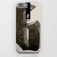 iPhone Cases featuring Blackletter by Tom Davie
