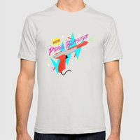 Pixel Blaster Mens Fitted Tee Silver SMALL