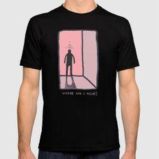 Where Was I Going? Black SMALL Mens Fitted Tee