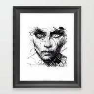 Framed Art Print featuring In Trouble, She Will. by Agnes-cecile