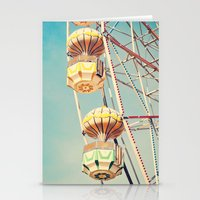 Ferris wheel, two baskets  Stationery Cards