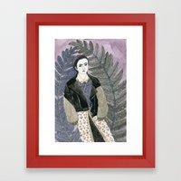 In Ferns Framed Art Print