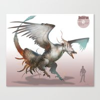 Pokemon-Reshiram Canvas Print