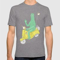 Vespa & Monsta Mens Fitted Tee Tri-Grey SMALL