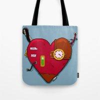 Robot Heart Tote Bag