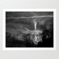 ghostly sunset Art Print