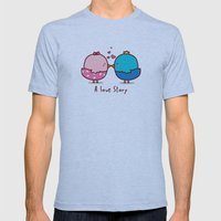 A Love Story Mens Fitted Tee Athletic Blue SMALL