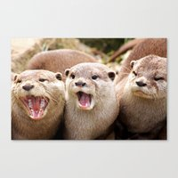 Otter Sequence Canvas Print