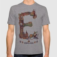 E is for England Mens Fitted Tee Athletic Grey SMALL