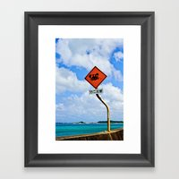Why Did The Crab Cross T… Framed Art Print