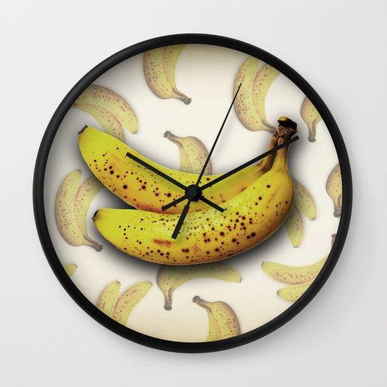 brown bananas Wall Clock