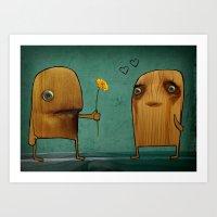 Wood He Love Me? Art Print
