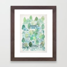 Cambodian Village Framed Art Print