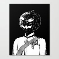 Sir Halloween Canvas Print