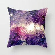 Throw Pillow featuring Watercolor Galaxy by Takmaj
