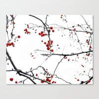 Little Red Kisses Canvas Print