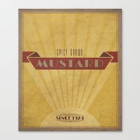 Spicy Brown Mustard Canvas Print