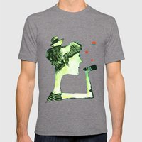 ACHTUNG! Mens Fitted Tee Tri-Grey SMALL