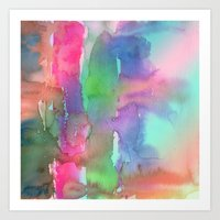 Rainbow Waterfall Art Print