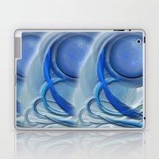 Blue Spiral Laptop & iPad Skin