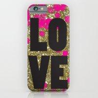 iPhone & iPod Case featuring Love in Glitter by Sara Berrenson