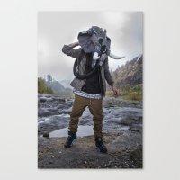 Sneakerhead Elephant Gas Mask by Freehand Profit Canvas Print