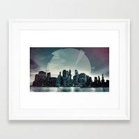 Manhattan Night Framed Art Print