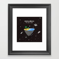 COCOA BEACH Framed Art Print