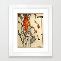 Spontaneous Combustion Framed Art Print