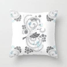 Blue King 3 Throw Pillow