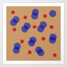 Quaint Blue Circles Art Print