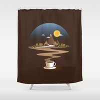 Old town coffee Shower Curtain