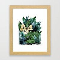 Crouching Tiger Framed Art Print