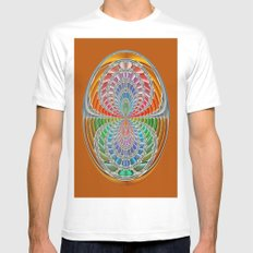 Binary colours White SMALL Mens Fitted Tee
